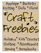 Craft Freebies featured at The Silent Rooster with florals, applique, basets, knitting